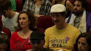 "Martínez recibió el respaldo de representantes culturales en la ""Ola cultural"" en El Galpón"