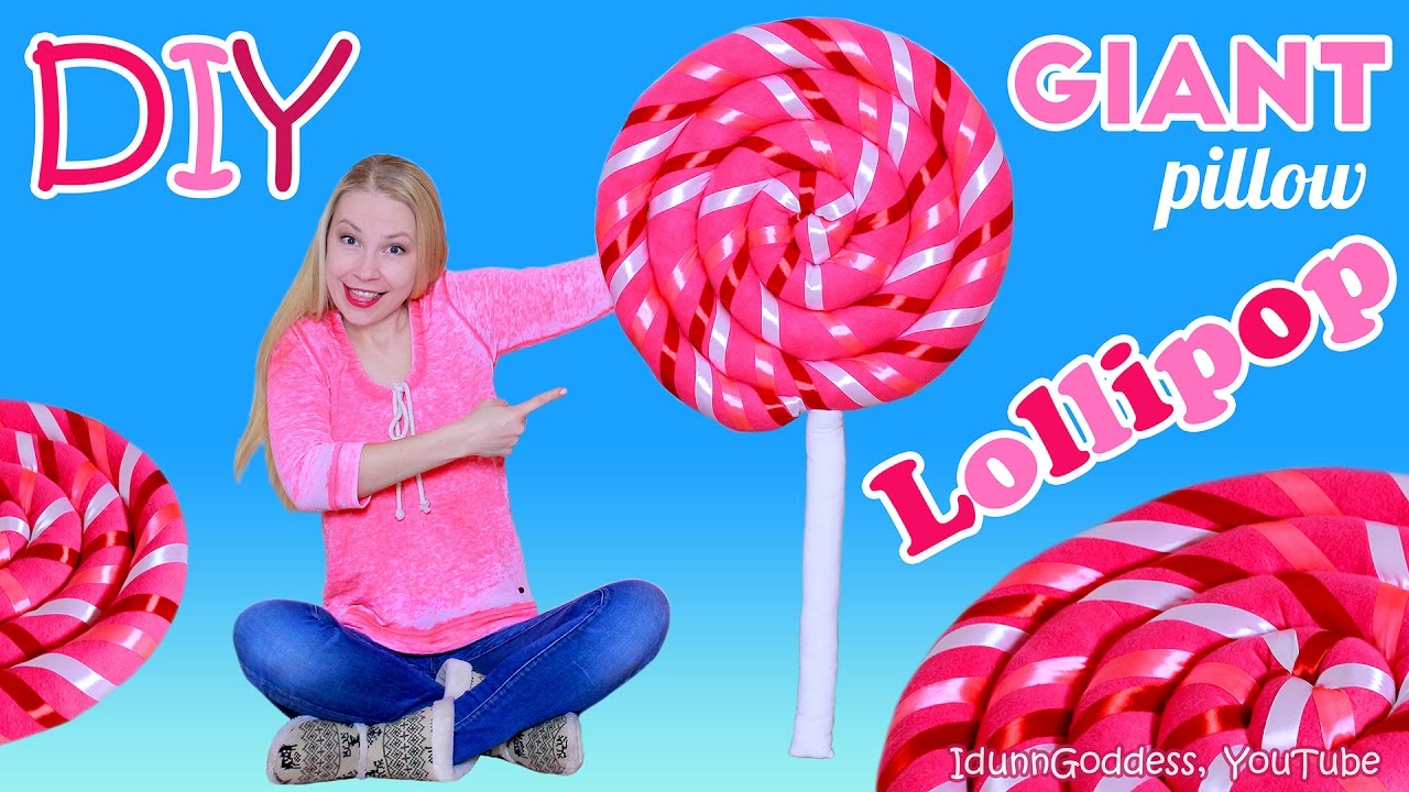 How To Make Giant Lollipop Pillow Diy Giant Lollipop