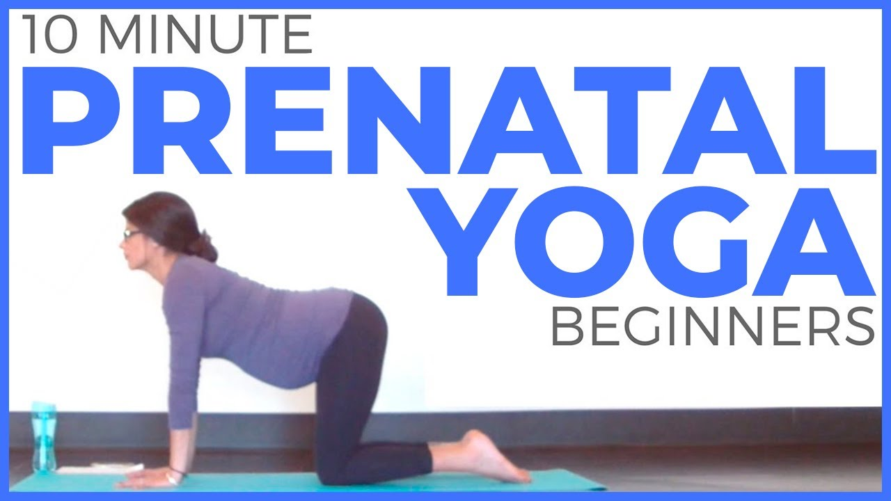PRENATAL YOGA for Beginners (10 minute Yoga) Safe for ALL Trimesters |  Sarah Beth Yoga