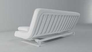 Моделирование дивана в 3d max