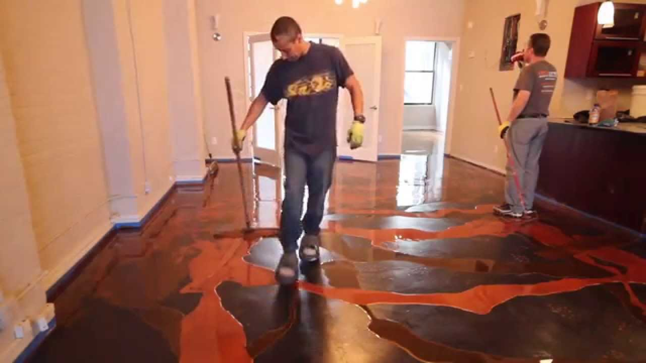 Decorative Epoxy Installation Youtube