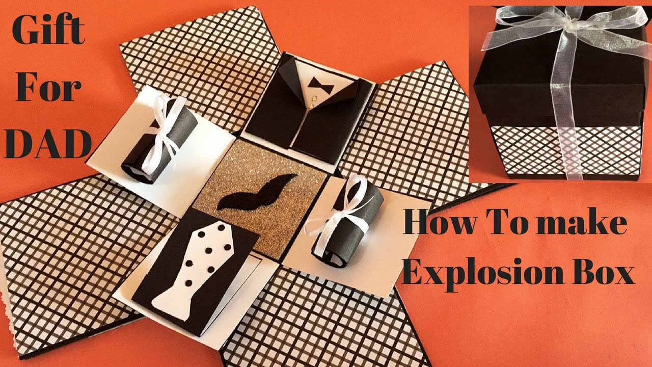 diy explosion box ideas explosion box for dad how to make