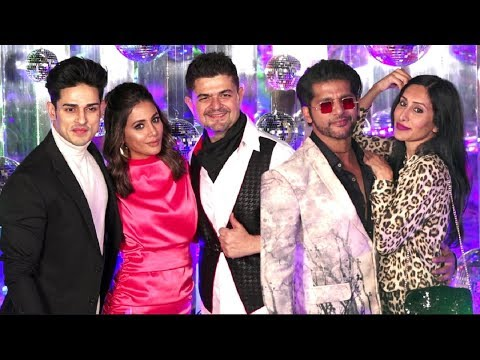 Hina Khan, Priyank Sharma And Karanvir Bohra At Dabboo Ratnani 2019 Calendar Launch