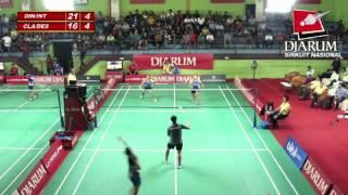 Inten Ratnasari/Dini Fotro (PB.SGS PLN Bandung) VS Clara Titi W/Desaula Gendt (Pusdiklat Jaya Raya)