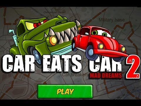 Car Eats Car 2 Mad Dreams Level1-6 Walkthrough: Please Subscribe for more videos ► http://goo.gl/WcFhiK Game:http://2pgame.com/2013/05/20/car-eats-car-2-mad-dreams.html Game description:    Who could ever think that little cars can fight with monsters? It's a continuation of the Car Eats Car with even more challenges!