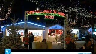 جادة الشانزيليزيه بباريس تتزين بأنوار عيد الميلاد ورأس السنة