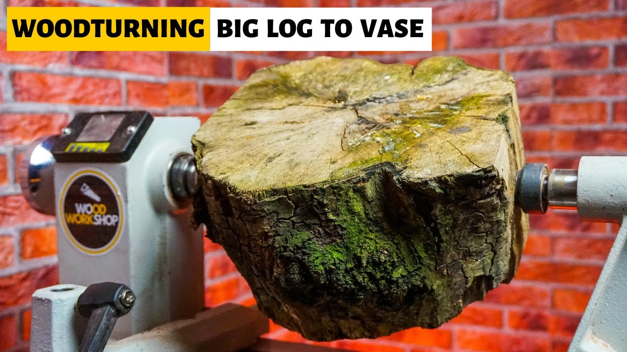 Woodturning - Big Log to Vase