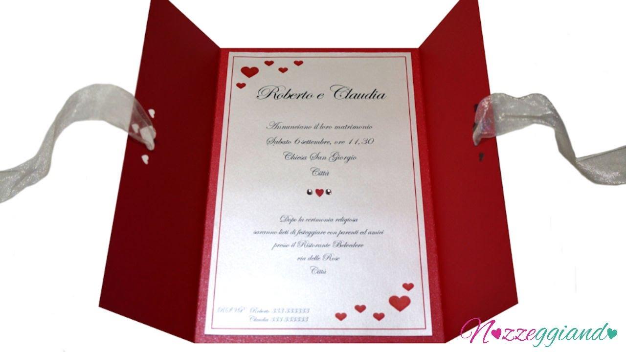 Célèbre Partecipazioni nozze fatte a mano - XXL - Trailer Nozzeggiando  DS06