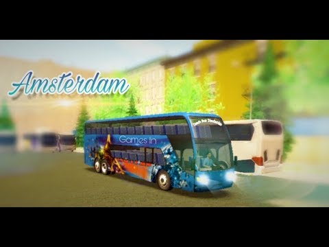 Coach Bus Simulation - Amsterdam - City Driving - Games In