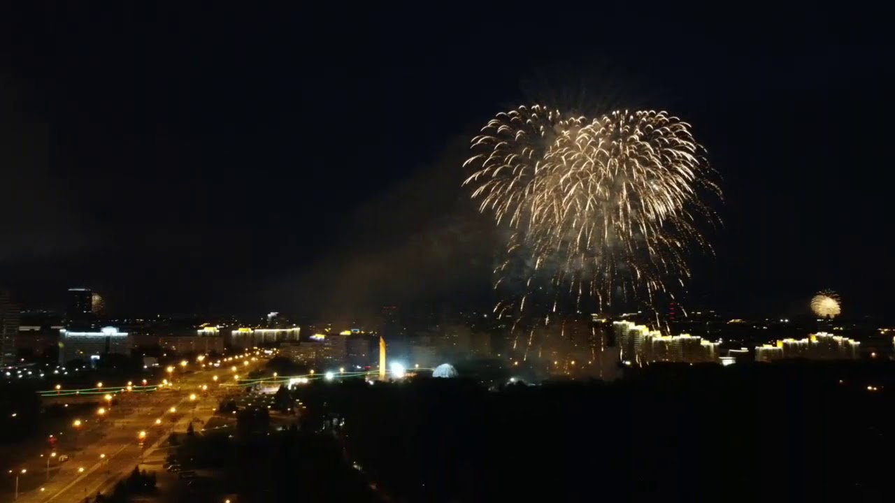 Mavic Mini firework in Minsk