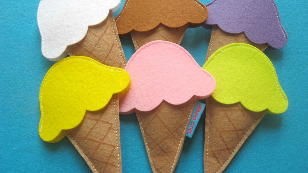 How To Make A Felt Ice Cream Scoop Set Diy Crafts