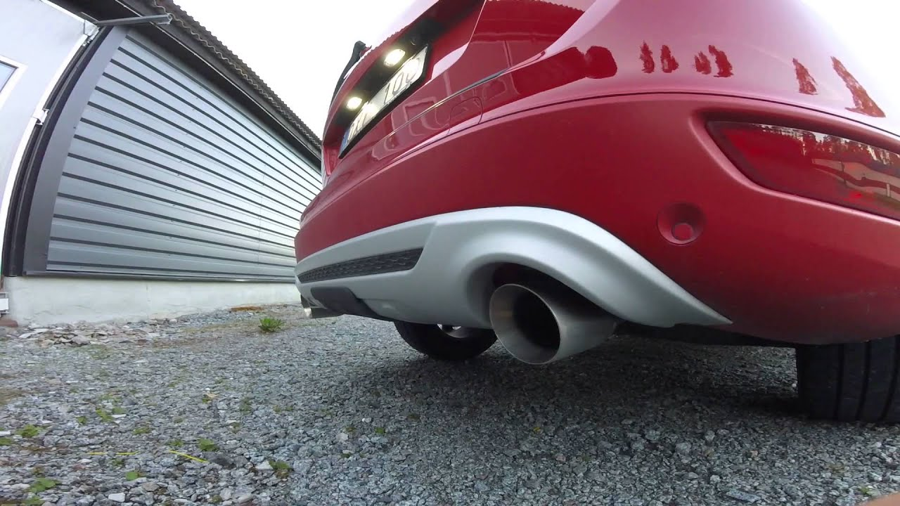 "Volvo Xc60 D3 AWD R-Design, 2.5"" straight exhaust w/ 4"" tip (after a short drive) - YouTube"