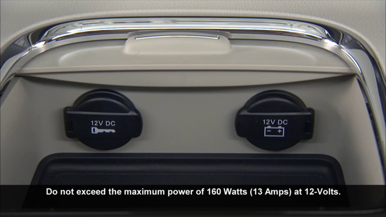 Electrical Power Outlets-Using the 12V power supply electrical plug on 2017  Dodge Grand Caravan