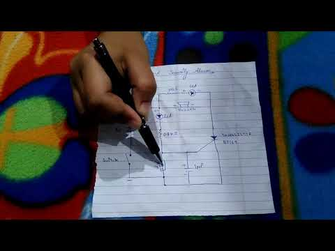 How ldr work in laser light secquirity alarm circuit class 12 project and how it's make part 1