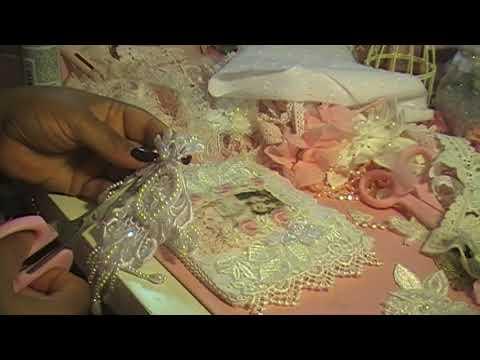 Shabby Chic Fabric Postcard Part 2