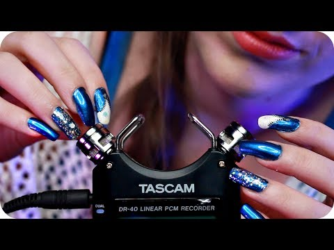 ASMR Tascam Mic Tapping W/ Scratching (NO TALKING) Gentle Close Up Ear to Ear Sounds 😴 White Noise