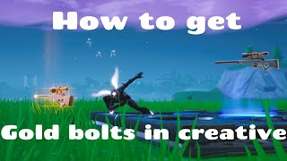 How to Get the Gold Bolt In Creative Fortnite
