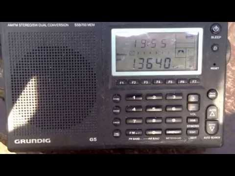 All India Radio french 13640 with News 1950 UT DXpedition perry island