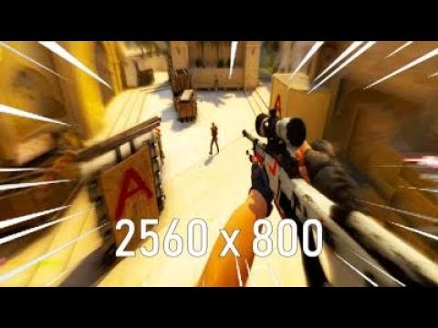 Using the most STRETCHED RESOLUTION on CSGO…