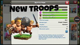 The battel ram barbarian party | new troops | how to attack | clash of clans