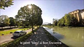 Passeligne par les ponts du canal d'Agen