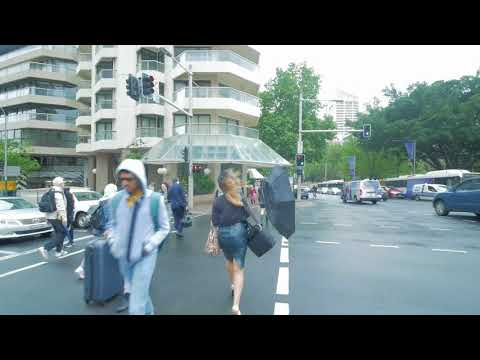 Sydney Video Walk 4K - Oxford St To Pitt St Mall Spring 2017