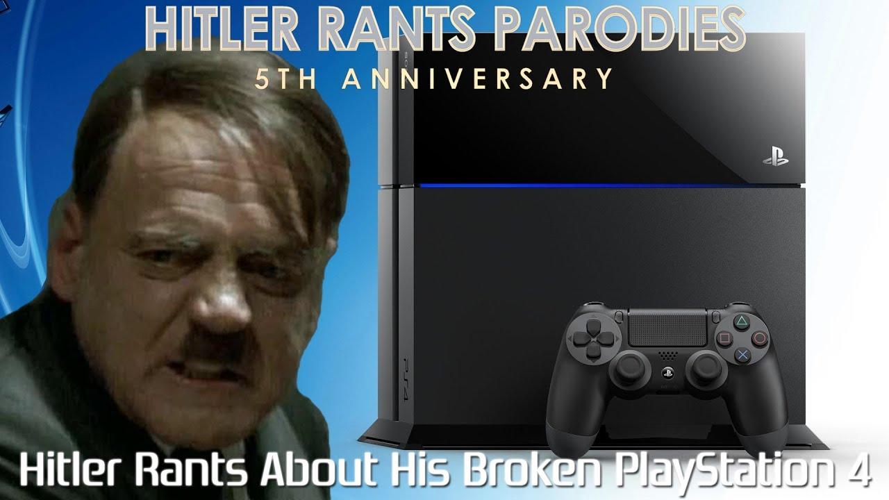 Hitler rants about his broken PlayStation 4