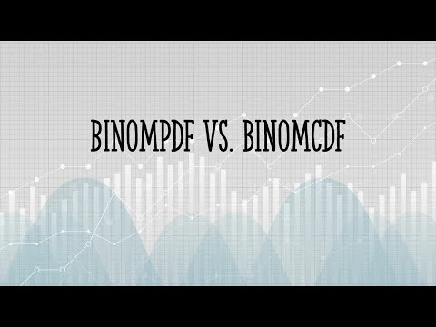 Difference Between BinomPDF and BinomCDF