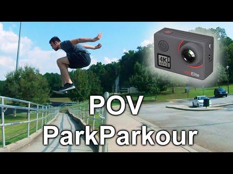POV Parkour At The Park - Akaso Action Cam Review