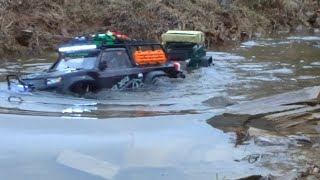 TRX4 SPORT EXPEDITION WITH A TRAILER AND MANY WATER CROSSINGS