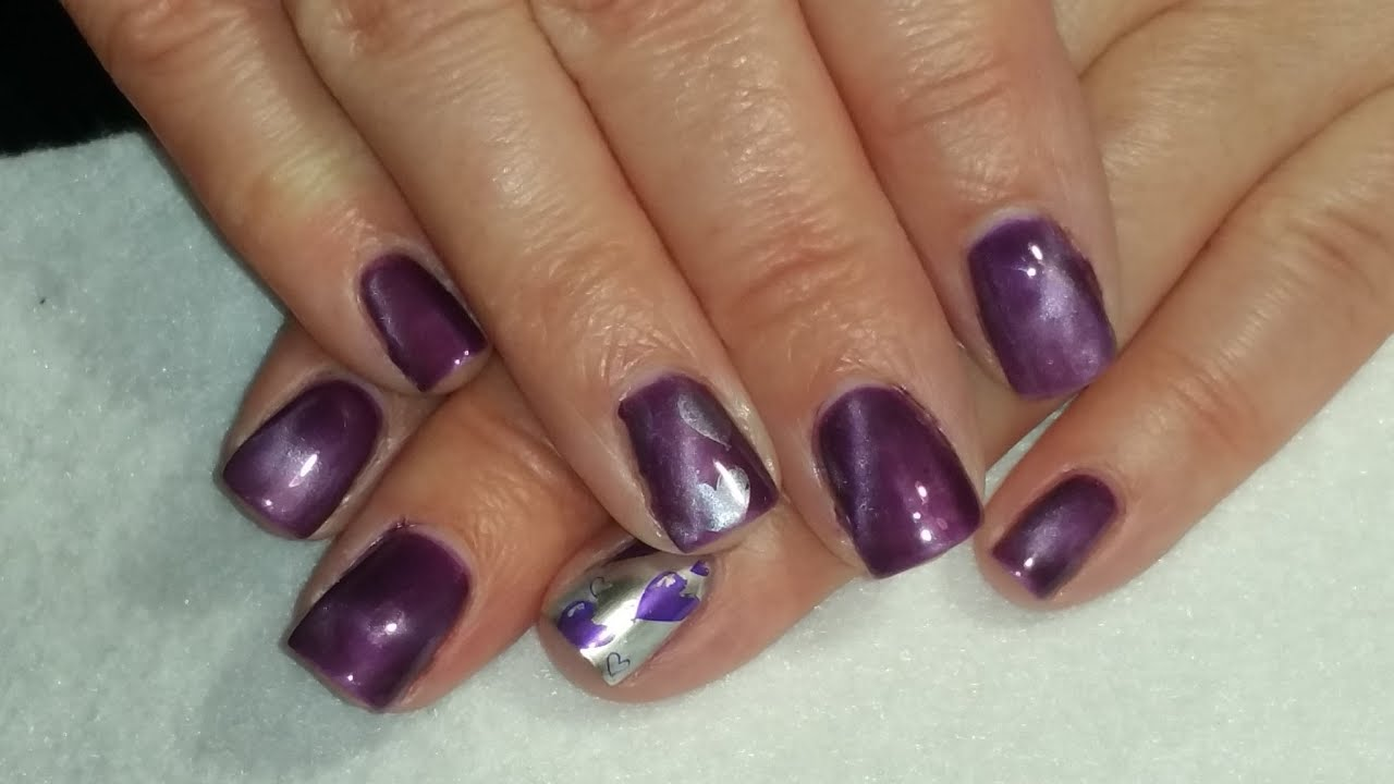 Madam Glam Review/Cat Eye Nail Design - YouTube