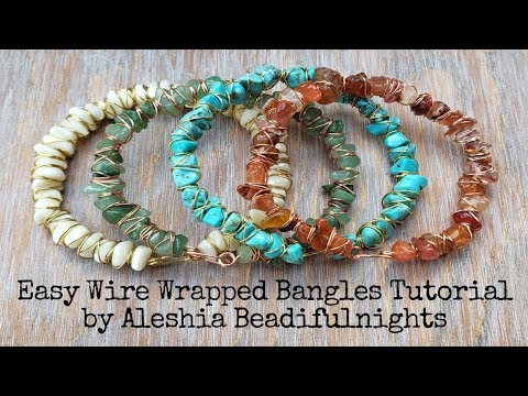 Easy Wire Wrapped Bangles Tutorial