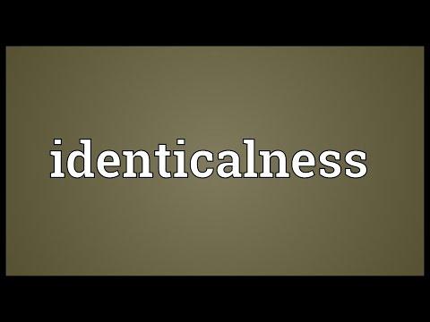 Header of identicalness