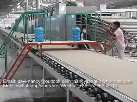 High quality automatic drywall gypsum board production line / plaster board  making machinery