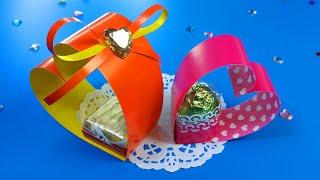 DIY ВАЛЕНТИНКА с конфетой. Сладкий подарок на день святого Валентина / GIFT FOR ST. VALENTINE'S DAY