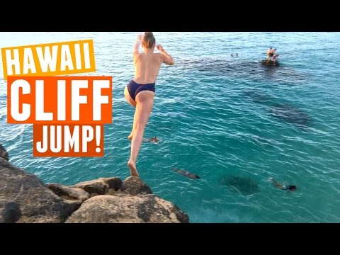 JUMPING OFF A CLIFF IN HAWAII