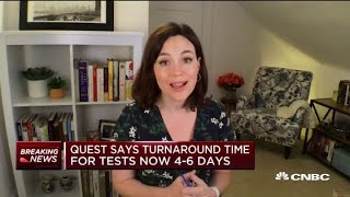Quest says turnaround time for Covid-19 tests improve to four to six days