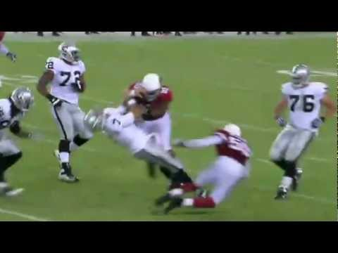 Backup quarterback Matt Leinart takes a HUGE HIT
