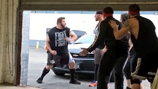 CURT HAWKINS DESTROYS GRIMS WWE TOYS AFTER KEVIN OWENS PRANK FAIL!