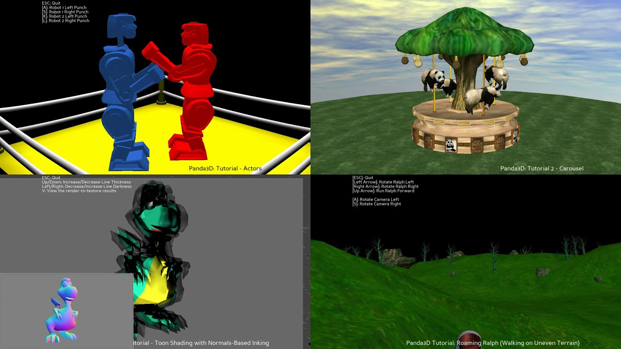 Panda3D Open Source Python Game Engine Samples
