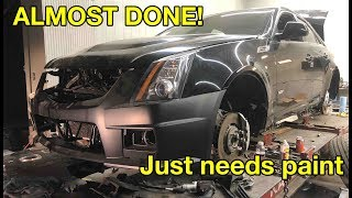 My WRECKED CTS-V Is Almost done!