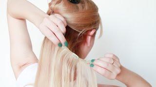 Накладные волосы. 1й способ крепления. How To Clip Hair Extensions. First Method(Подписывайтесь на мой канал http://www.youtube.com/user/4OXYGENE http://instagram.com/olyanaryzhnaya http://vpletaysya.ru http://vk.com/vpletaysya ..., 2015-11-15T13:31:13.000Z)