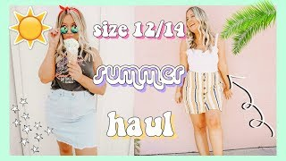 HUGE SUMMER TRY ON HAUL! | MIDSIZE DRESSES & ROMPERS