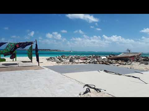 Orient Baie beautiful sea + cleaning of club orient 12 March 2018 after hurricane Irma St Martin