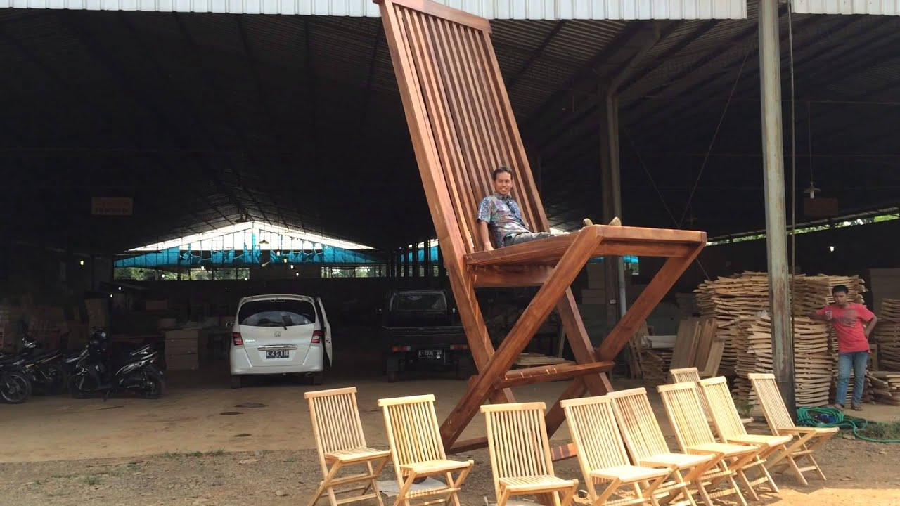 Giant Folding Chair Rentals Okc By President Furniture Youtube