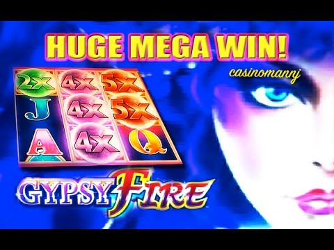 GYPSY FIRE Slot - *HUGE MEGA SLOT WIN!!!* - Slot Machine Bonus - 동영상