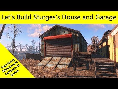 Fallout 4: Let's Build A Sanctuary Settlement - Sturges's House And Garage