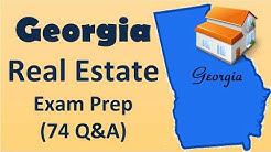 Georgia  Real Estate Exam  Practice  with 74 Questions and Answers.