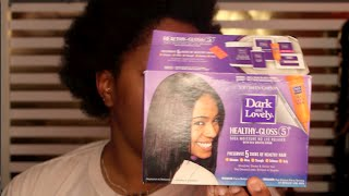 Dark n' Lovely Healthy Gloss Shea Butter Relaxer | DominiqueDenésha