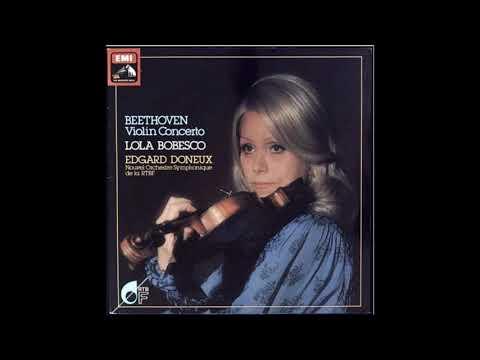 "Beethoven ""Violin Concerto"" Lola Bobesco"
